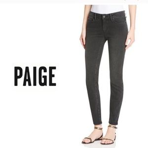 Paige Verdugo Ankle Weathered Black Skinny Jeans